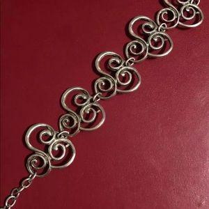 Ladies silver bracelet adjustable length